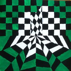Walker Middle Magnet School Art: Op Art Paintings