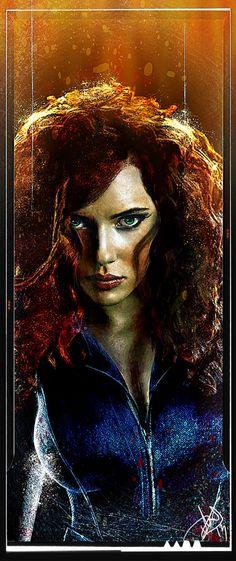 The Avengers - Black Widow / ALPC :: THE ALL NIGHT LIGHT AND POWER COMPANY   The Digital art of Daniel Scott Gabriel Murray