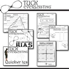 TUCK EVERLASTING Vocabulary List and Quiz (chapters 15-19
