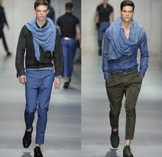 Ermanno Scervino 2014 Spring Summer Mens Runway Collection - Milan Italy Catwalk Fashion Show: Designer Denim Jeans Fashion: Season Collections, Runways, Lookbooks and Linesheets