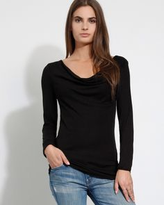 MARNIE LONG SLEEVE DRAPE TEE