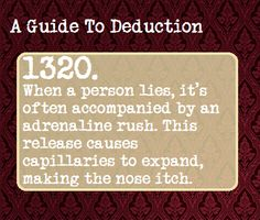 A Guide to Deduction | Tumblr. I will check the sincerity of this comment later.