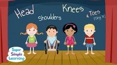 Heads Shoulders Knees and Toes - Super Simple Songs - YouTube