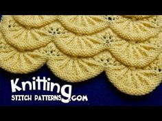 Ginkgo Leaf Knitting Pattern : How to knit the Parasol stitch. I think this lace would look so cute on the f...