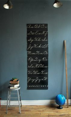 Large Alphabet Cursive Charts $285.00 Via Agent Gallery Chicago Could easily diy