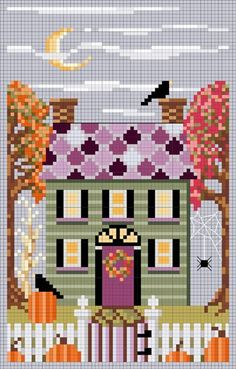 AUTUMN HOUSE from A House For All Seasons Freebies Collection designed by Brooke Nolan: