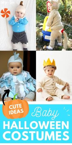 Is there anything cuter than Baby Halloween Costumes? Halloween is just around the corner but you still have time to create special baby costumes.  #halloween #babyhalloweencostumes #Halloweencostumes #costumes Cute Baby Halloween Costumes, Cute Costumes, Baby Costumes, Halloween Diy, Infant Activities, Activities For Kids, Cute Diys, Have Time, Baby Dress