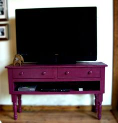 Ana White | Build a Turned Leg Media Console | Free and Easy DIY Project and Furniture Plans