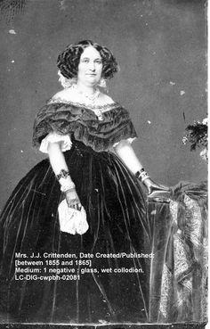 Mrs. Crittenden, wife of John J. Crittenden, after Henry Clay the most influential 19th century Kentucky politician. http://asoldiersfriend.com/
