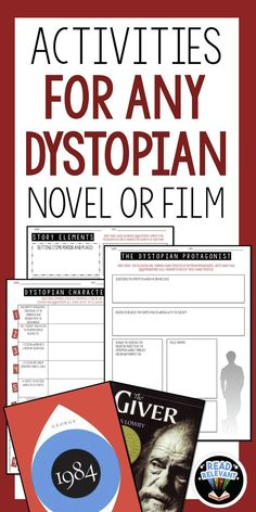 These activities will engage your students and help them analyze any dystopian novel or film. Perfect for The Hunger Games, The Giver, 1984, Fahrenheit 451, and more!