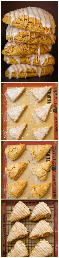 Pumpkin Scones {Starbucks Copycat} - definitely my favorite Fall scones! Pumpkin Scones {Starbucks Copycat} - definitely my favorite Fall scones! Yummy Treats, Delicious Desserts, Sweet Treats, Yummy Food, Tasty, Pumpkin Recipes, Fall Recipes, Holiday Recipes, Pumpkin Scones Starbucks