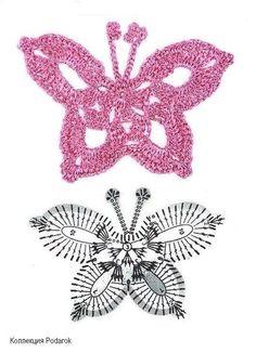 Delicadezas en crochet Gabriela: Patrones de mariposas infinidad de modelos