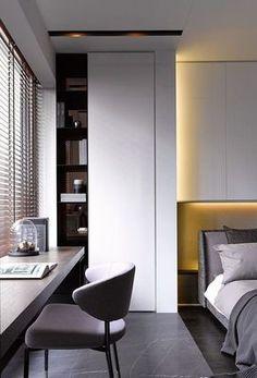 Фото: Интересные идеи по обустройству рабочего места в небольшой спальне (Фото)