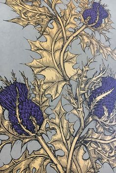 Timorous Beasties Wallcoverings – Wallpaper Grand Thistle Source by freezes Art Nouveau Tattoo, Art Nouveau Wallpaper, Drawing Wallpaper, Bold Wallpaper, Trendy Wallpaper, Art Floral, Floral Design, Illustration Art Drawing, Art Drawings