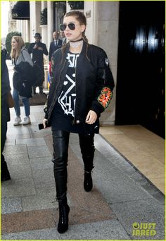 Hailey Baldwin & Gigi Hadid Step Out in Style During PFW