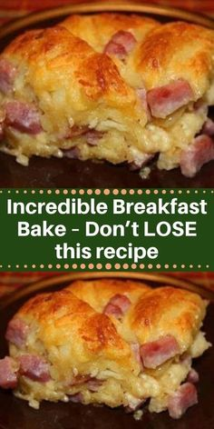 Incredible Breakfast Bake My husband is also pretty partial to Bakes as his . - Incredible Breakfast Bake My husband is also pretty partial to Bakes as his mother used to make - Breakfast And Brunch, Baked Breakfast Recipes, Breakfast Bake, Breakfast Items, Breakfast Dishes, Easy Brunch Recipes, Breakfast Ideas With Eggs, Easy Breakfast Casserole Recipes, Breakfast Casserole With Biscuits
