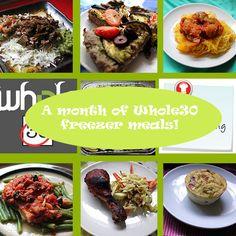OAMC Freezer Menu ~ Stuff I Make My Husband. 30 days of compliant freezer meals :-) Primal Recipes, Clean Eating Recipes, Real Food Recipes, Cooking Recipes, Healthy Recipes, Healthy Eating, Paleo Food, Paleo Diet, Cooking Tips