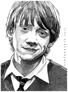 Portrait of Rupert Grint by Stefanosart on Stars Portraits, the biggest online gallery for celebrity portraits. Harry Potter Art Drawings, Harry Potter Drawings, Disney Art Drawings, Celebrity Portraits, Harry Potter Portraits, Cartoon Sketches, Ron Weasley Drawing, Portrait Sketches, Portrait