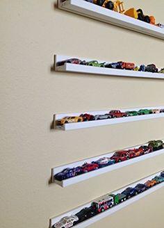 Hot Wheels/Box Cars Shelves Storage ( Set of 5) Box cars Storage Shelves, Box and Picture Frames Display Shelves, Toy Cars Storage Shelves, Display Shelf for Matchbox Cars