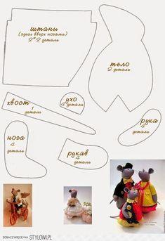 Stylowi.pl - Odkrywaj, kolekcjonuj, kupuj Felt Dolls, Doll Toys, Stuffed Toys Patterns, Doll Clothes Patterns, Doll Patterns, Diy Stuffed Animals, Fabric Dolls, Fabric Animals, Felt Animals