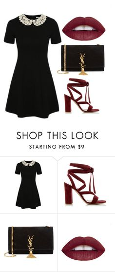 """Untitled #9"" by loveahreana ❤ liked on Polyvore featuring George, Gianvito Rossi, Yves Saint Laurent, women's clothing, women, female, woman, misses and juniors"