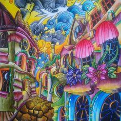 Cobbled Streets from The Magical City ☺ #lizziemarycullen #themagicalcity #themagicalcitycolouringbook #magicalcity #adultcoloring #adultcoloringbook #coloringforadults #coloringbook #coloring #omalovanky #antistresstherapy #arttherapie #art #relax #derwent #derwentinktense #inktense #inktensepencils #watercolor #england #cobbledstreets #bayan_boyan #divasdasartes #arte_e_colorir #boracolorirtop #coloringtoolkit #beautifulcoloring Enchanted Forest Book, Enchanted Forest Coloring Book, Coloring Tutorial, Magic City, Magical Christmas, Coloring Book Pages, Psychedelic Art, Christmas Colors, Cool Art