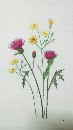 Embroidery Flowers Pattern, Paper Embroidery, Japanese Embroidery, Hand Embroidery Stitches, Silk Ribbon Embroidery, Crewel Embroidery, Hand Embroidery Designs, Embroidered Flowers, Embroidery Supplies