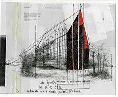 Beniamino Servino. Site Specific. Cattedrale con 4 navate passanti. [Su un disegno di James Wines, Site Archive, Inventario n. 11]