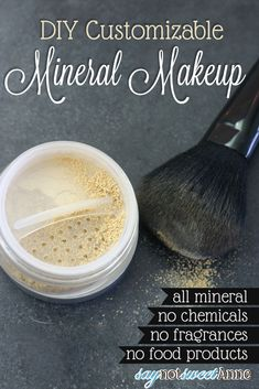 DIY All Mineral Makeup! Using high quality minerals, no fillers, no food products and no perfumes,. Make your perfect shade, and then make more when you run out!   saynotsweetanne.com   #diy #makeup #minerals #beauty