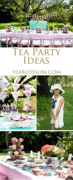 You will love our Tea Party Ideas for girl birthday parties, baby showers or bridal showers! All the Tea Party decorations you will need for a special celebration!