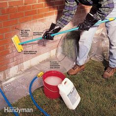 How to Clean Brick: Keep water stains from ruining your house's appearance  http://www.familyhandyman.com/cleaning/how-to-clean-brick/view-all