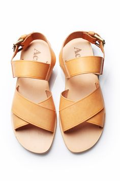 Walk in well-shod style - Acne tan strappy leather sandals from Club 21b