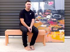 Interview with artist Thom Stuart - Notely Abstract Landscape Painting, Landscape Paintings, News Studio, Young Family, Sunshine Coast, Paint Pens, Creative Industries, Art School, Summer Collection