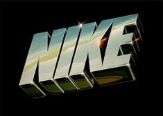 Creative Typography, Lettering, and Nike image ideas & inspiration on Designspiration Fond Design, 90s Design, Retro Design, Design Art, Type Design, Interior Design, 3d Typography, Creative Typography, Lettering