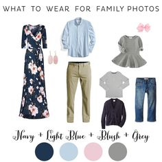 What to Wear for Fall Family Photos Navy and Blush Floral Maxi Dress Hillsboro F… Was für den Herbst Familienfotos tragen Navy und Blush Floral Maxi-Kleid Hillsboro Family Photographer Navy Family Pictures, Extended Family Pictures, Family Pictures What To Wear, Winter Family Photos, Family Pics, Outfits For Family Pictures, Family Portraits What To Wear, Summer Family Portraits, Farm Family