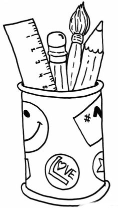 Free Printable Coloring Page...Back to School, backpack