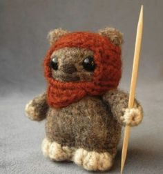 This totally makes me think of my brother. As kids we got Ewoks for Easter one year.