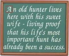 Old Hunter Sign | Hunter's Wife Sign | Hunting Decor | Frame