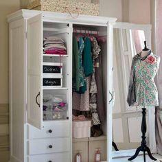 Bedroom wardrobe and dress mannequin