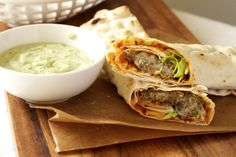Spicy Lentil Wrap with Tahini Sauce
