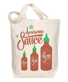 Love this 'Awesome Sauce' Tote on #zulily! #zulilyfinds