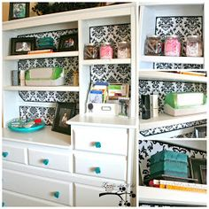Lookie What I Did: Re-purposed Baby Hutch and Updated Craft Room