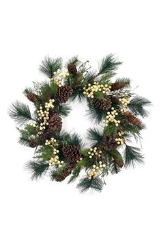 MELROSE GIFTS Pine & Berry Wreath available