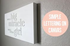 3D Letters on Canvas | white on white