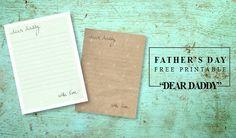 Dear Daddy Free Printable