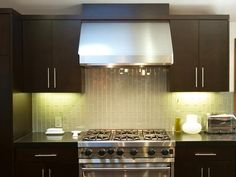 Note the backsplash Contemporary Kitchens from Fiorella Design on HGTV