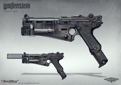 Concept art from Wolfenstein: The New Order - Handgun 60, axel torvenius on ArtStation at https://www.artstation.com/artwork/concept-art-from-wolfenstein-the-new-order-handgun-60