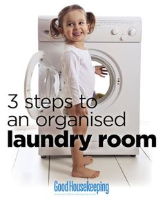 3 Steps to an Organised Laundry Room: Organise your wash-and-dry space in less time than it takes to do a load Wash N Dry, Good Housekeeping, Organising, Home Hacks, Declutter, Storage Organization, Laundry Room, Home Appliances, Space