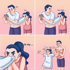 Artist Depicts Her Relationship With Her Boyfriend In 31 Illustrations Love Cartoon Couple, Cute Couple Comics, Couples Comics, Comics Love, Cute Couple Art, Funny Couples, Cute Comics, Cute Anime Couples, Funny Comics