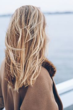 long blonde bob and beachy waves Prosecco and Plaid